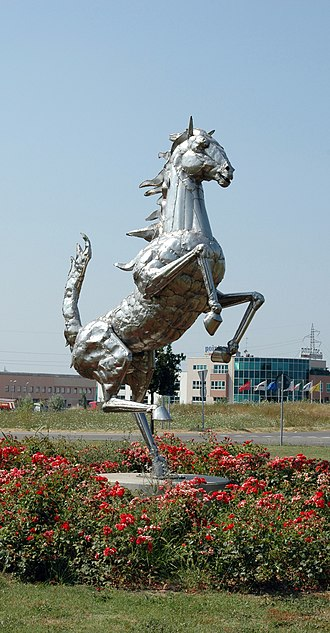 Maranello - The Prancing Horse, symbol of Ferrari, which has its headquarters in Maranello
