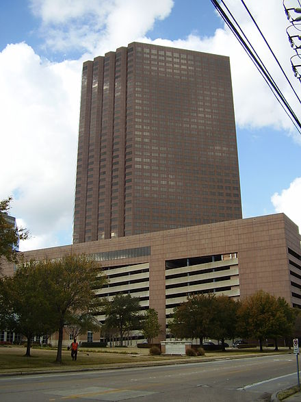 Marathon Oil Tower, the headquarters of Marathon Oil MarathonOilTowerHoustonTX.JPG