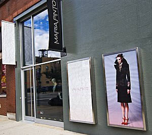 Maria Pinto (fashion designer) - Pinto's boutique in the Near West Side, Chicago (It closed in 2010.)