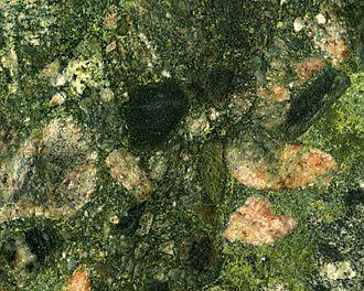 Metaconglomerate - Image: Marinace Green Granite (polymict metaconglomerate) Bahia