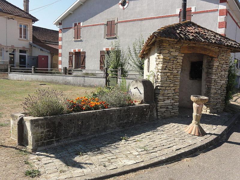 Marre (Meuse) puits-abreuvoir et abri