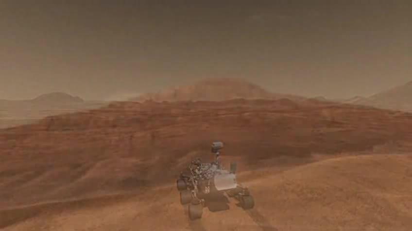 mars curiosity landing animation - photo #37