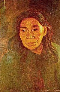 Martha Simon, Last of the Narragansetts oil 1857 Albert Bierstadt.jpg