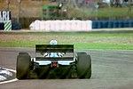 Martin Brundle - Ligier JS39 during practice for the 1993 British Grand Prix (33557362261).jpg