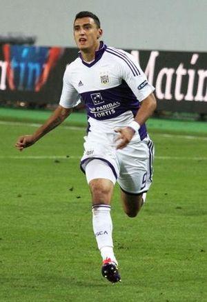 English: Matías Suárez with R.S.C. Anderlecht.