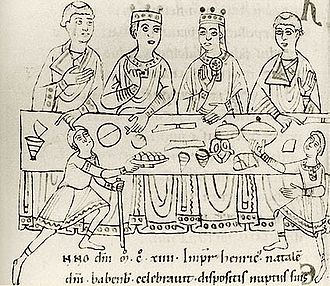 Empress Matilda - 12th-century depiction of Matilda and Henry's wedding feast