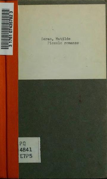 File:Matilde Serao Piccolo romanzo.djvu