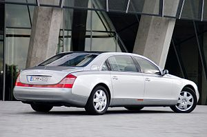 Maybach 62 in front of Mercedes-Benz Museum, S...