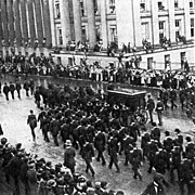 McKinley's remains passing Treasury building.