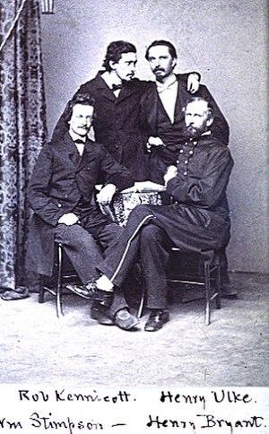 Henry Ulke - Henry Ulke, upper right - a member of the Megatherium Club, Smithsonian Institution, approximately 1864.
