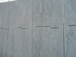 Tom Burnett - Burnett and other names on the Flight 93 National Memorial.