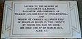 Memorial to Elizabeth Allanson in Ripon Cathedral.JPG