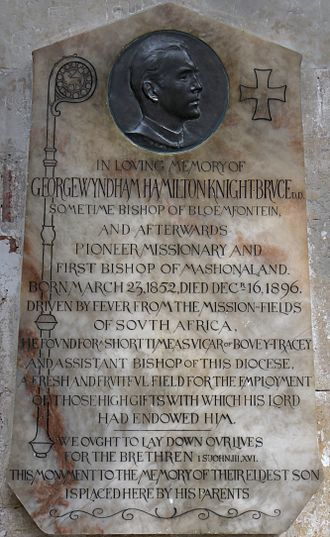 George Knight-Bruce - Memorial in Exeter Cathedral