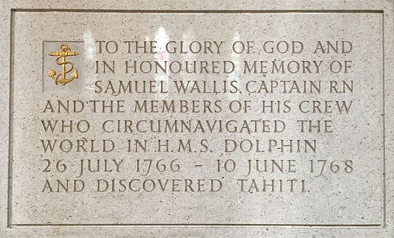 Memorial to Samuel Wallis in Truro Cathedral.jpg