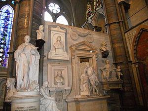 Poets' Corner - Memorials in Poets' Corner in Westminster Abbey