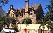 Mercedes, Gothic Revival home, Walker Street, North Sydney, New South Wales, Sydney - Wiki0148