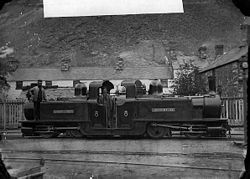 Merddin Emrys locomotive, Ffestiniog railway NLW3363952.jpg