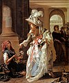 Michel Garnier A Fashionably Dressed Young Woman in the Arcade of the Palais Royal 1787.jpg