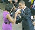 Michelle Obama and Barack Obama enjoy a victory fist pound upon winning the Democratic Nomination.jpg