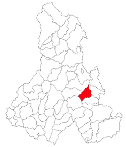 Location of Mihăileni, Harghita