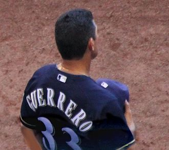 Mike Guerrero - Coaching for the Milwaukee Brewers in 2014