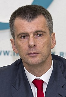 Mikhail Prokhorov Billionaire entrepreneur, politician, sportsteam owner