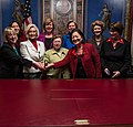 Mikulski, Senate Women Held a Photo-op With Pay Equity Activist Lilly Ledbetter (12195464164).jpg