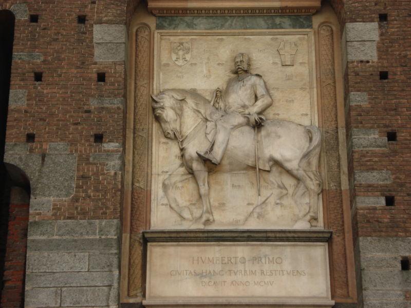 Image:Milano - Castello sforzesco - Torre del Filarete - Umberto I. Foto Giovanni Dall'Orto, 6-gen-2007.jpg