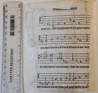 Myles Coverdale - Fragment of Miles Coverdale's Goostly Psalmes and Spirituall Songes in the Bodleian Library, Oxford