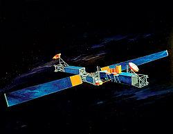 U.S. military MILSTAR communications satellite