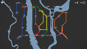 Mini Metro (video game) - Image: Mini Metro screenshot 5