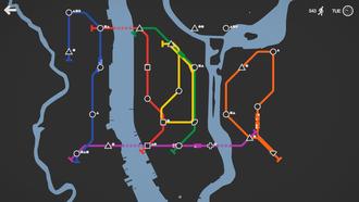 Mini Metro (video game) - Image: Mini Metro screenshot 5
