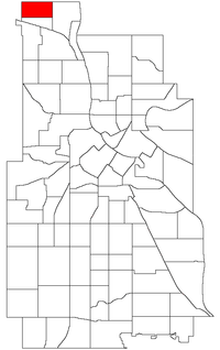 Location of Shingle Creek within the U.S. city of Minneapolis