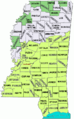 Mississippi counties Katrina disaster areas map.png