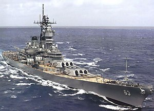 USS Missouri (BB-63) - Image: Missouri post refit