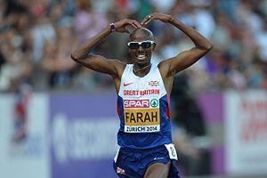 2014 European Athletics Championships – Men's 5000 metres - Winner Mo Farah