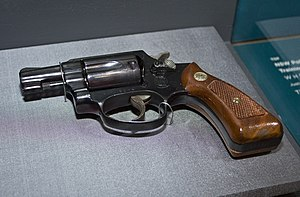 Smith & Wesson Model 36 - Image: Model 36 38 calibre Smith & Wesson which was issued to women in the NSW Police