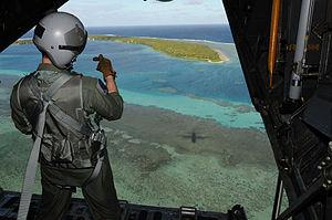 Mokil Atoll - Image: Mokil airdrop 2