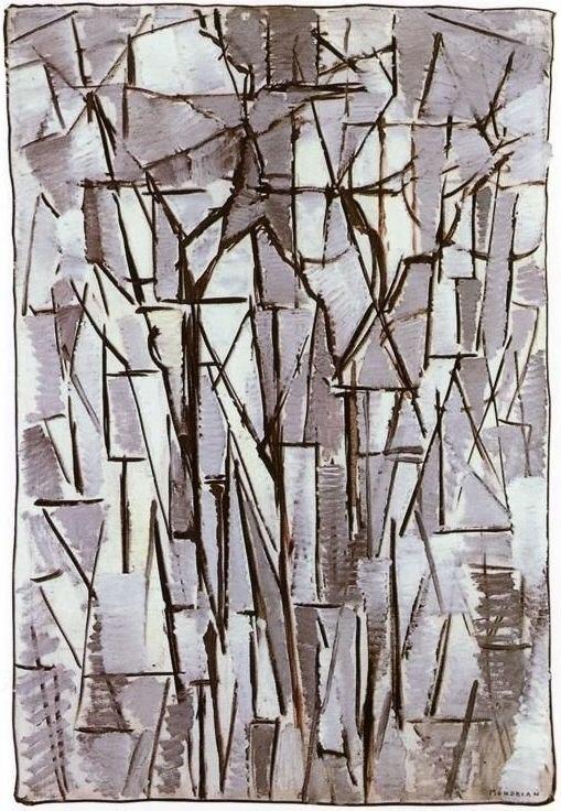 Mondrian Compositie bomen II
