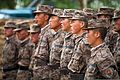 Mongolian Armed Forces engineers with the 017 Construction Regiment receive instructions before participating in Khaan Quest 2013 in Ulaanbaatar, Mongolia, July 22, 2013 130722-M-MG222-001.jpg
