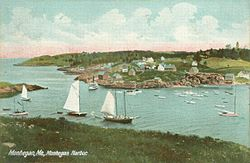 Monhegan Harbor in 1909
