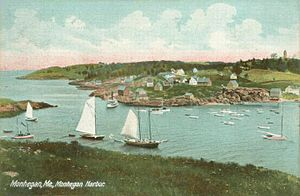 Monhegan, Maine - Monhegan Harbor in 1909
