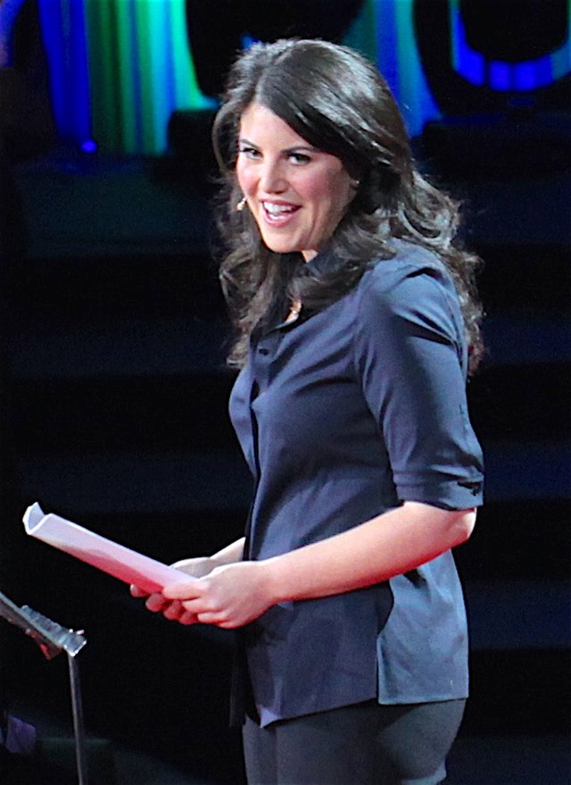 From commons.wikimedia.org: Monica Lewinsky {MID-97018}
