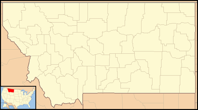 Location map USA Montana
