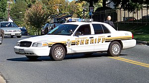 A Montgomery County Sheriff's Office vehicle b...