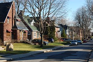 Montreal West, Quebec - Brock Avenue in Montreal West.