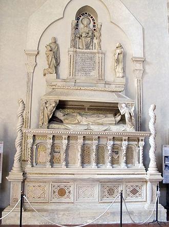 Guillaume de Bray - Monument of Cardinal de Bray Orvieto, Church of Dominicans