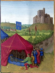 Death of Bertrand du Guesclin; C15th miniature by Jean Fouquet