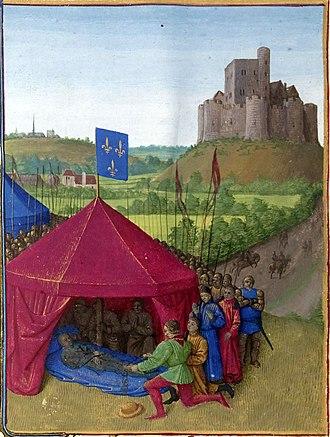 Bertrand du Guesclin - Death of Bertrand du Guesclin, by Jean Fouquet