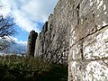 Morton Castle, Thornhill, Dumfries and Galloway, Scotland - south facing fortifications from the east.jpg